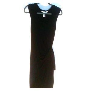Max Studio black faux tie dress small